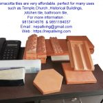 Plane Ridge Roof Top Corner Terracotta Tile Small size